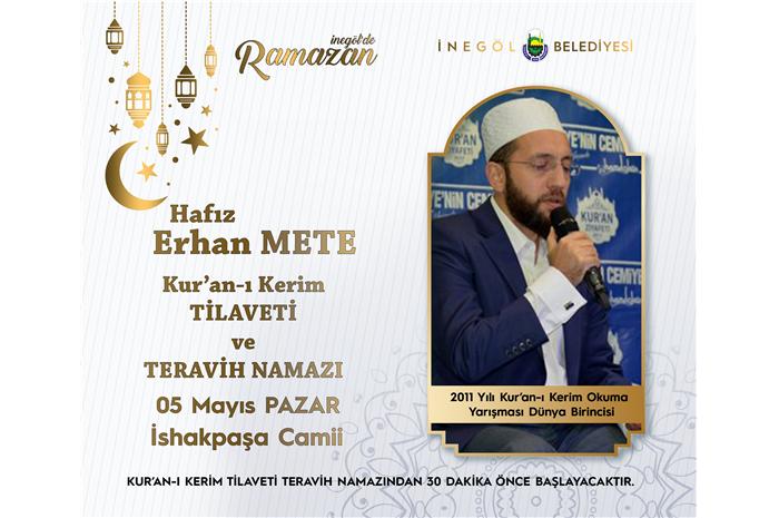 2011 Yılı Dünya 1 .si Hfz. Erhan METE Kur'an-ı Kerim Tilaveti ve Teravih Namazı