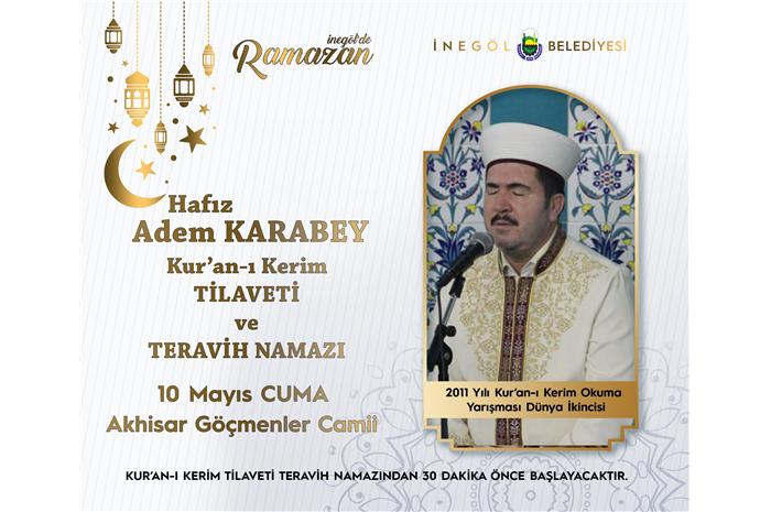 2011 Yılı Dünya 2 .si Hfz. Adem KARABEY Kur'an-ı Kerim Tilaveti ve Teravih Namazı