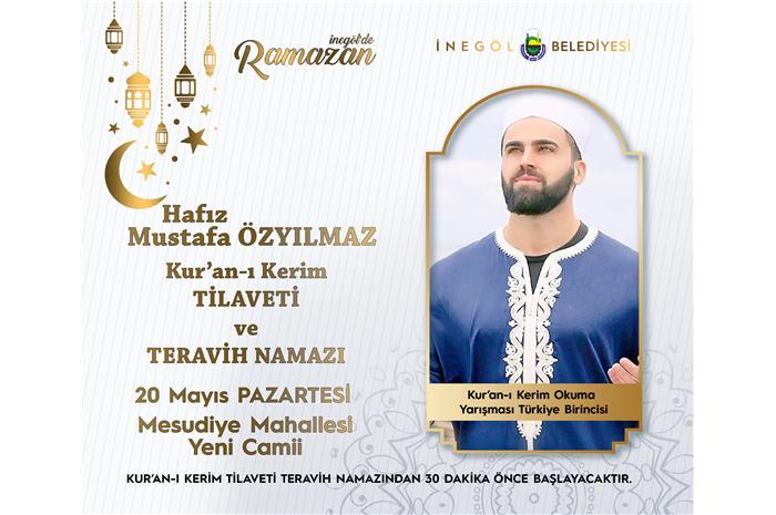 Türkiye 1 .si Hfz. Mustafa ÖZYILMAZ Kur'an-ı Kerim Tilaveti ve Teravih Namazı