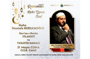 2004 Yılı Dünya 1 .si Hfz. Mustafa KIZILCAOĞLU Kur'an-ı Kerim Tilaveti ve Teravih Namazı